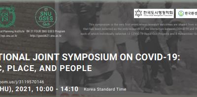 International Joint Symposium on Covid-19 dalam Kerangka  Kerjasama Penelitian PWK – UNDIP dengan GSES – SNU