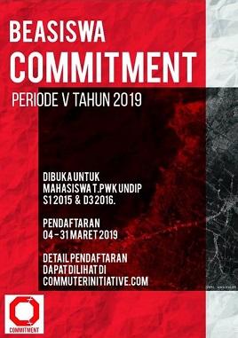 BEASISWA COMMITMENT Periode V Tahun 2019 Telah Buka Pendaftaran