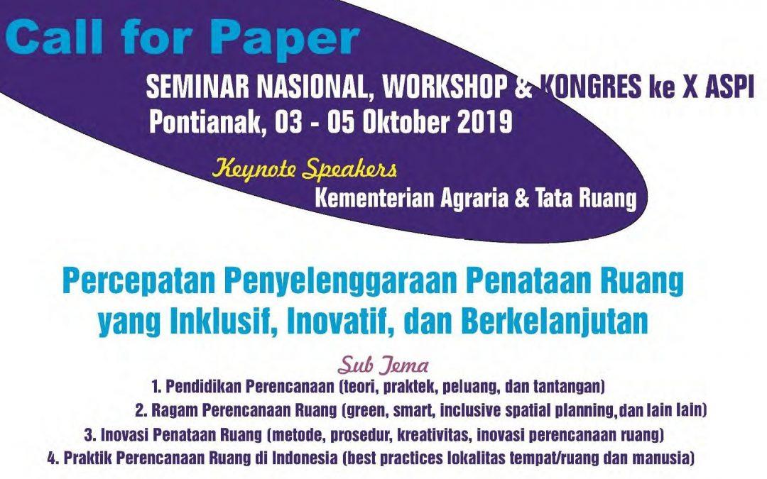 Informasi Call for Paper Seminar Nasional dan Penghargaan Karya Terbaik Studio Perencanaan Tata Ruang